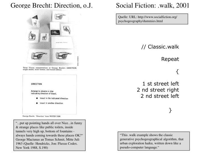 George Brecht: Direction, o.J.