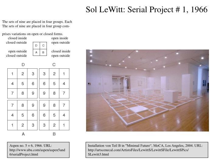 Sol LeWitt: Serial Project # 1, 1966