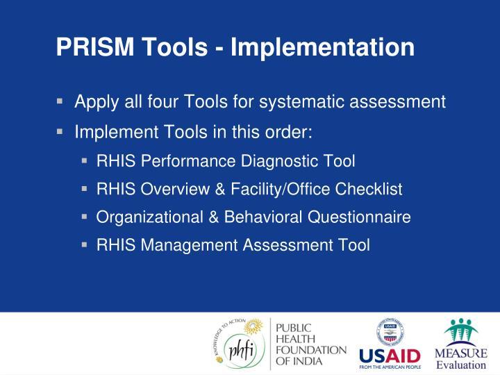 PRISM Tools - Implementation