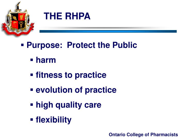 THE RHPA
