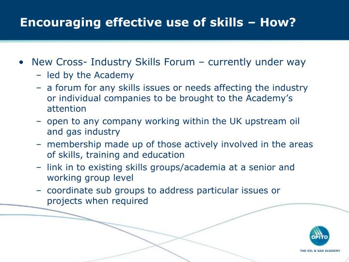 New Cross- Industry Skills Forum – currently under way