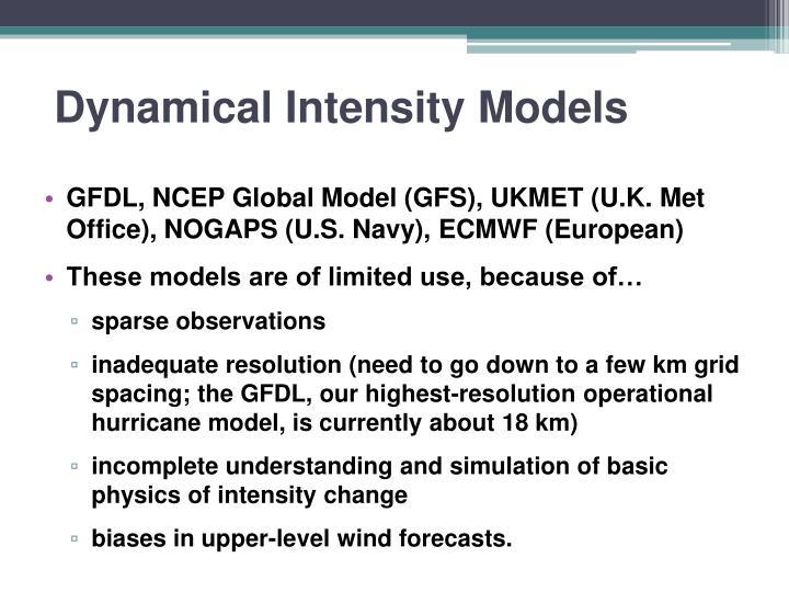 Dynamical Intensity Models