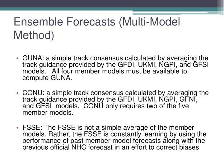 Ensemble Forecasts (Multi-Model Method)