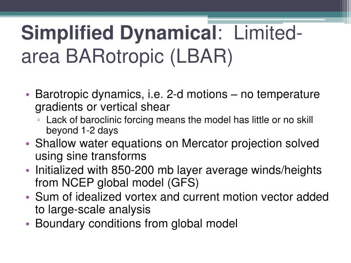 Simplified Dynamical