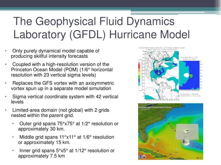 The Geophysical Fluid Dynamics Laboratory (GFDL) Hurricane Model