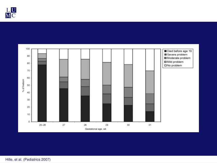 Hille, et al. (Pediatrics 2007)