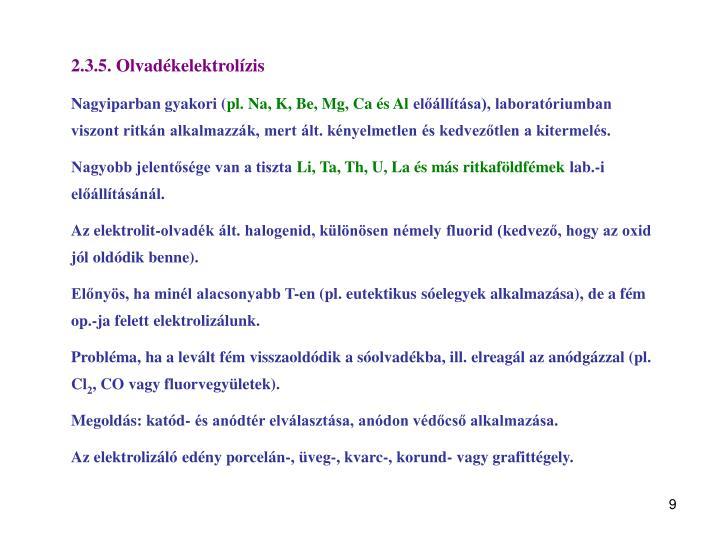 2.3.5. Olvadékelektrolízis