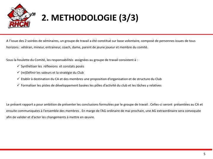 2. METHODOLOGIE (3/3)