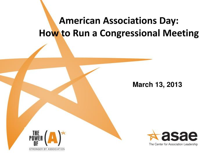 american associations day how to run a congressional meeting n.
