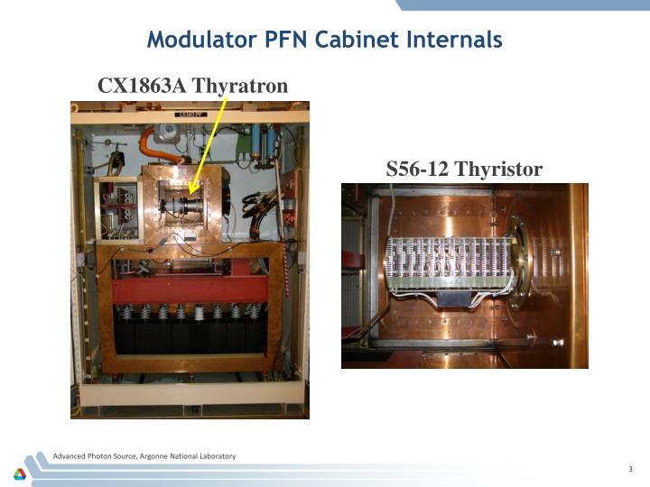 Modulator pfn cabinet internals