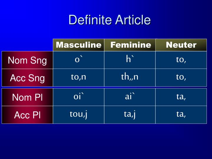 Definite Article