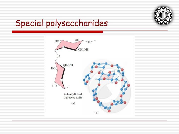 Special polysaccharides
