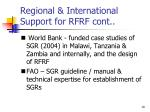regional international support for rfrf cont