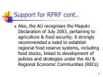 support for rfrf cont