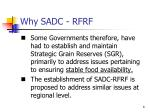why sadc rfrf