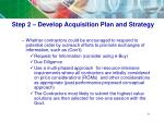 step 2 develop acquisition plan and strategy5