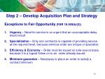 step 2 develop acquisition plan and strategy6