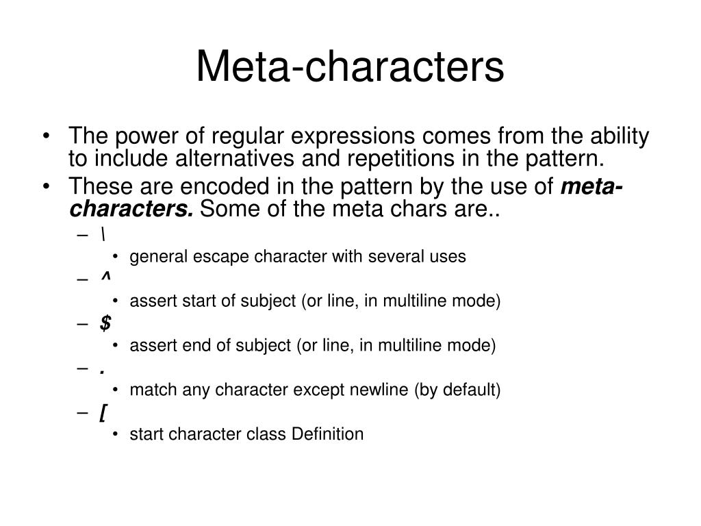 PPT - Regular Expressions in PHP PowerPoint Presentation