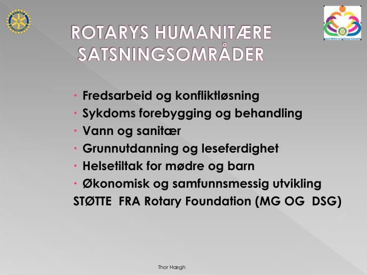 ROTARYS HUMANITÆRE