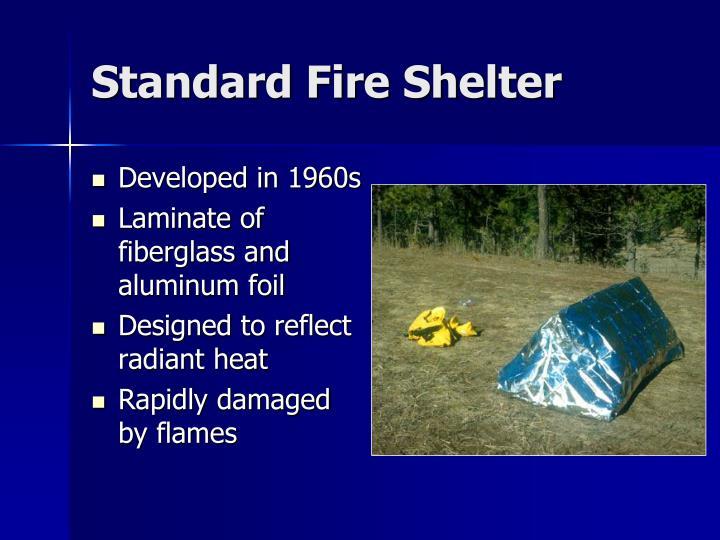 Standard fire shelter