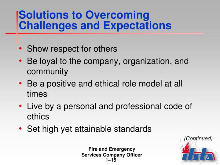 Solutions to Overcoming Challenges and Expectations
