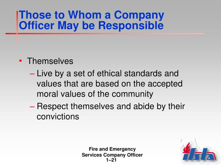 Those to Whom a Company Officer May be Responsible