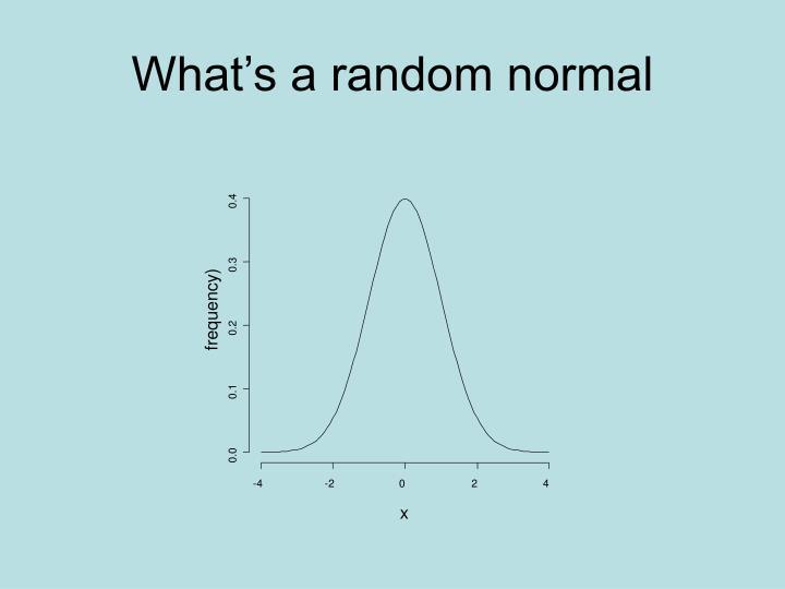 What's a random normal