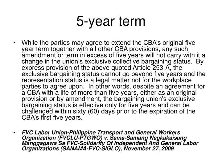 5-year term