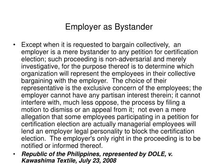 Employer as Bystander