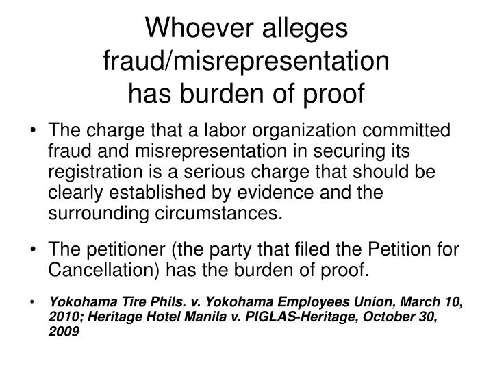 misrepresentation Fraudulent misrepresentation is a lie used to trick someone into an agreement that harms them it is the most serious type of false statement in contract law3 min read.