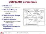 confidant components