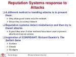 reputation systems response to attacks