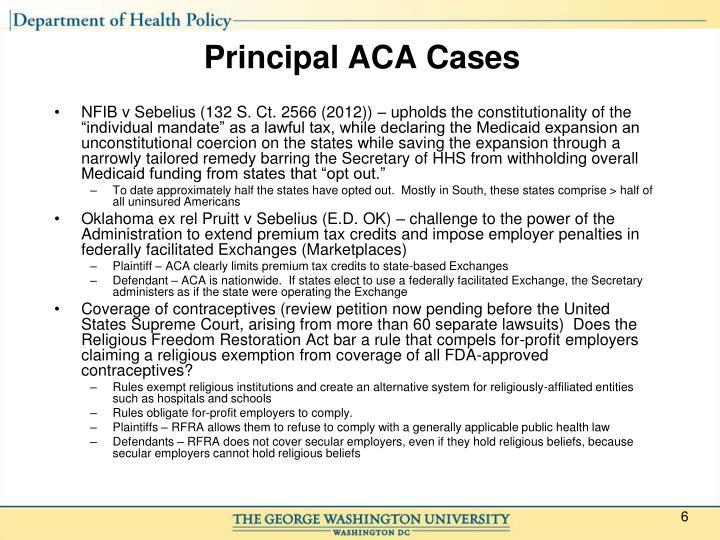 Principal ACA Cases