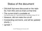 status of the document