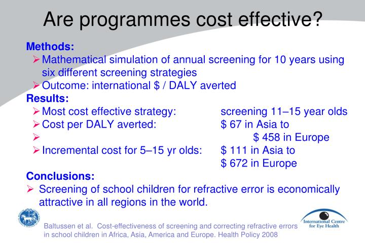 Are programmes cost effective?