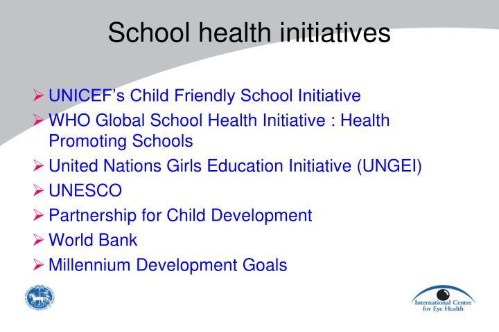 School health initiatives