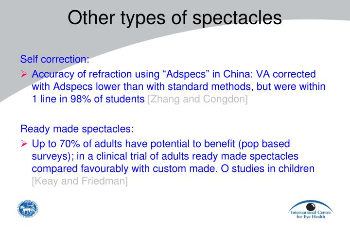 Other types of spectacles