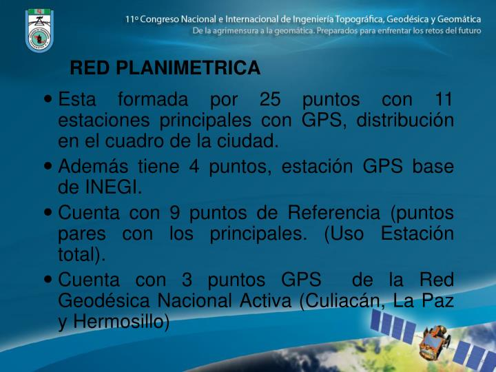RED PLANIMETRICA