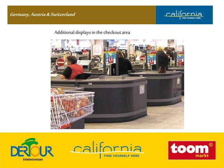 Additional displays in the checkout area