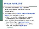 proper attribution