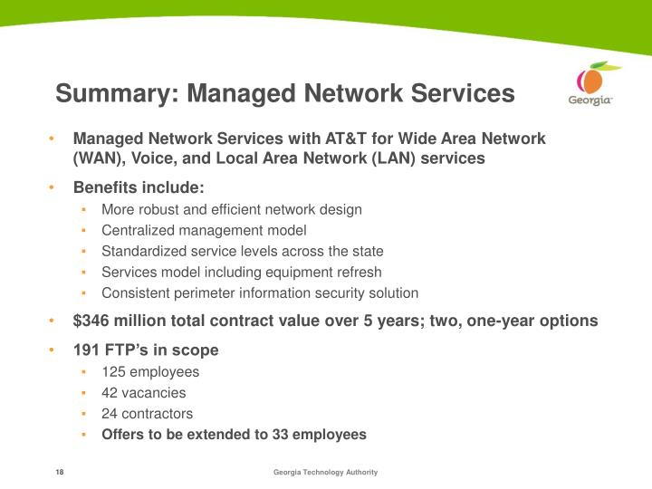 Summary: Managed Network Services