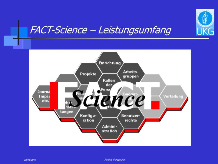 FACT-Science – Leistungsumfang