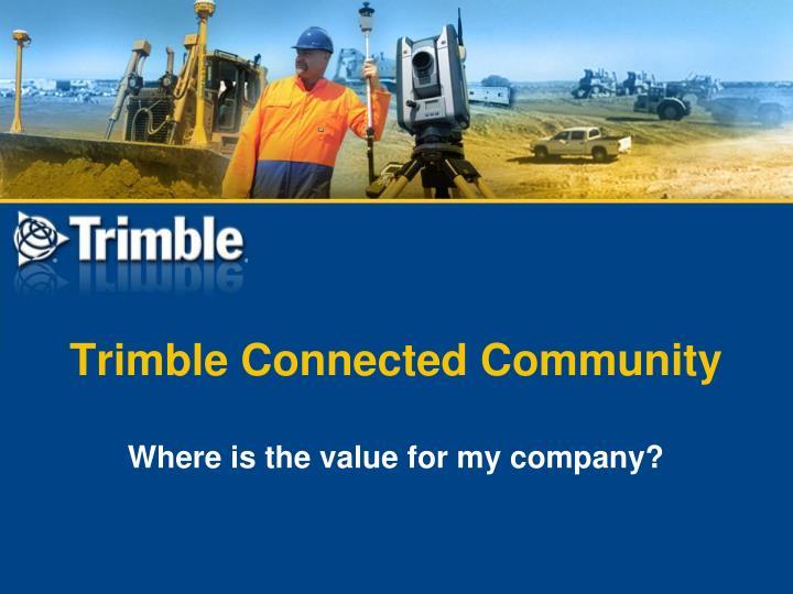 Trimble Connected Community
