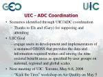 uic adc coordination