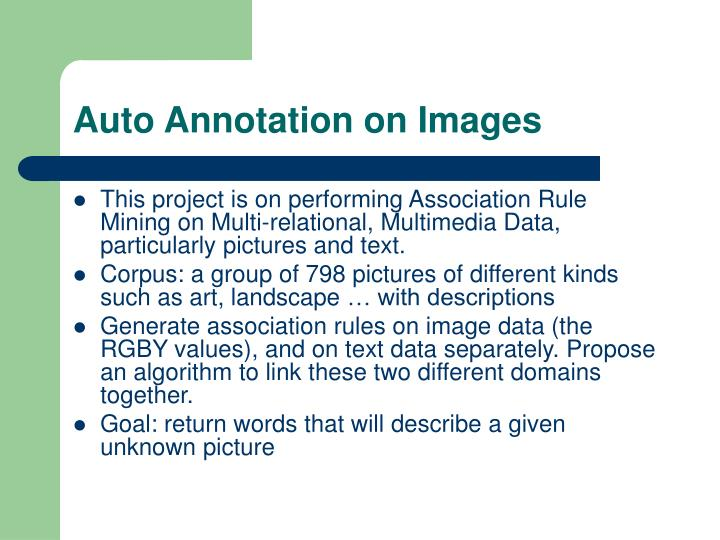 Auto annotation on images