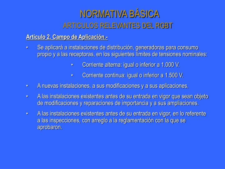 NORMATIVA BÁSICA