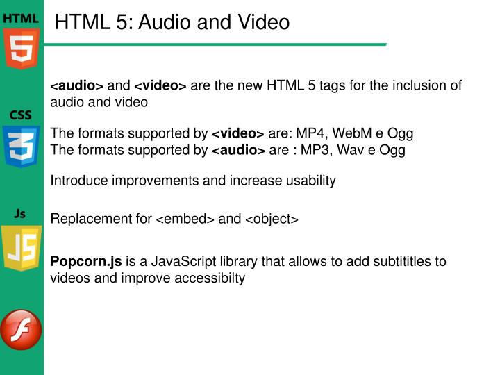 HTML 5: Audio and Video