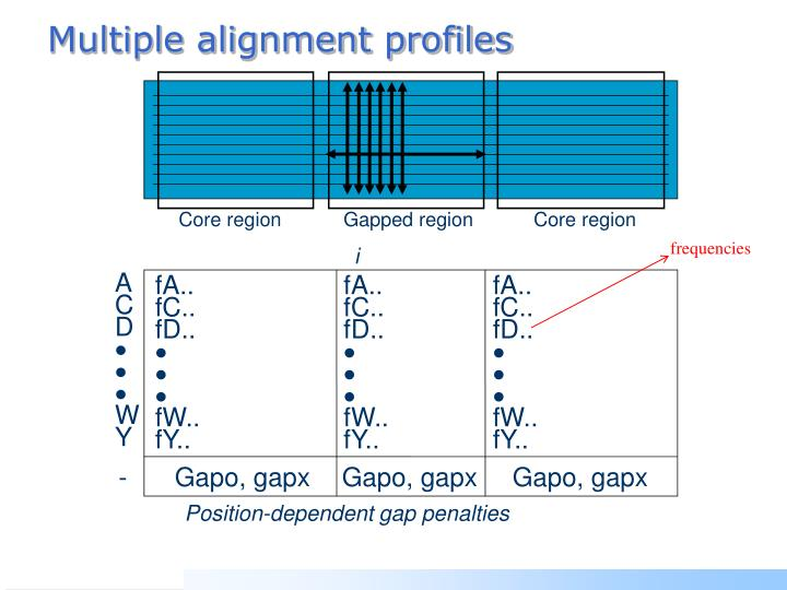 Multiple alignment profiles