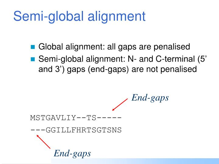 Semi-global alignment