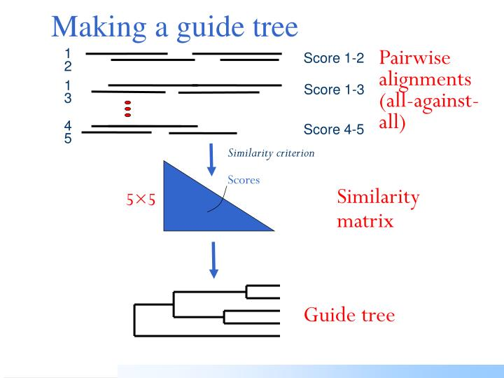 Making a guide tree